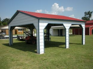Vertical Roof Side Entry Carport