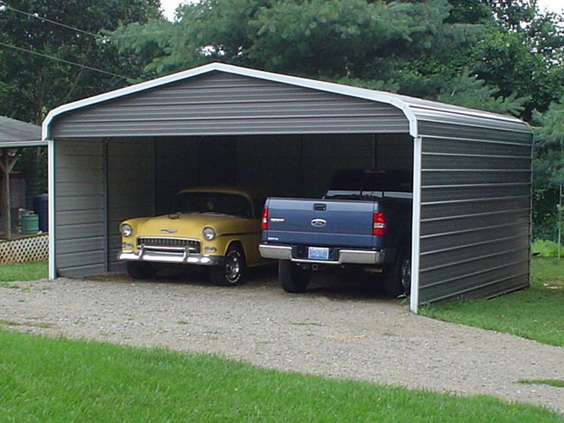 Metal Double Carport : Double carports two car