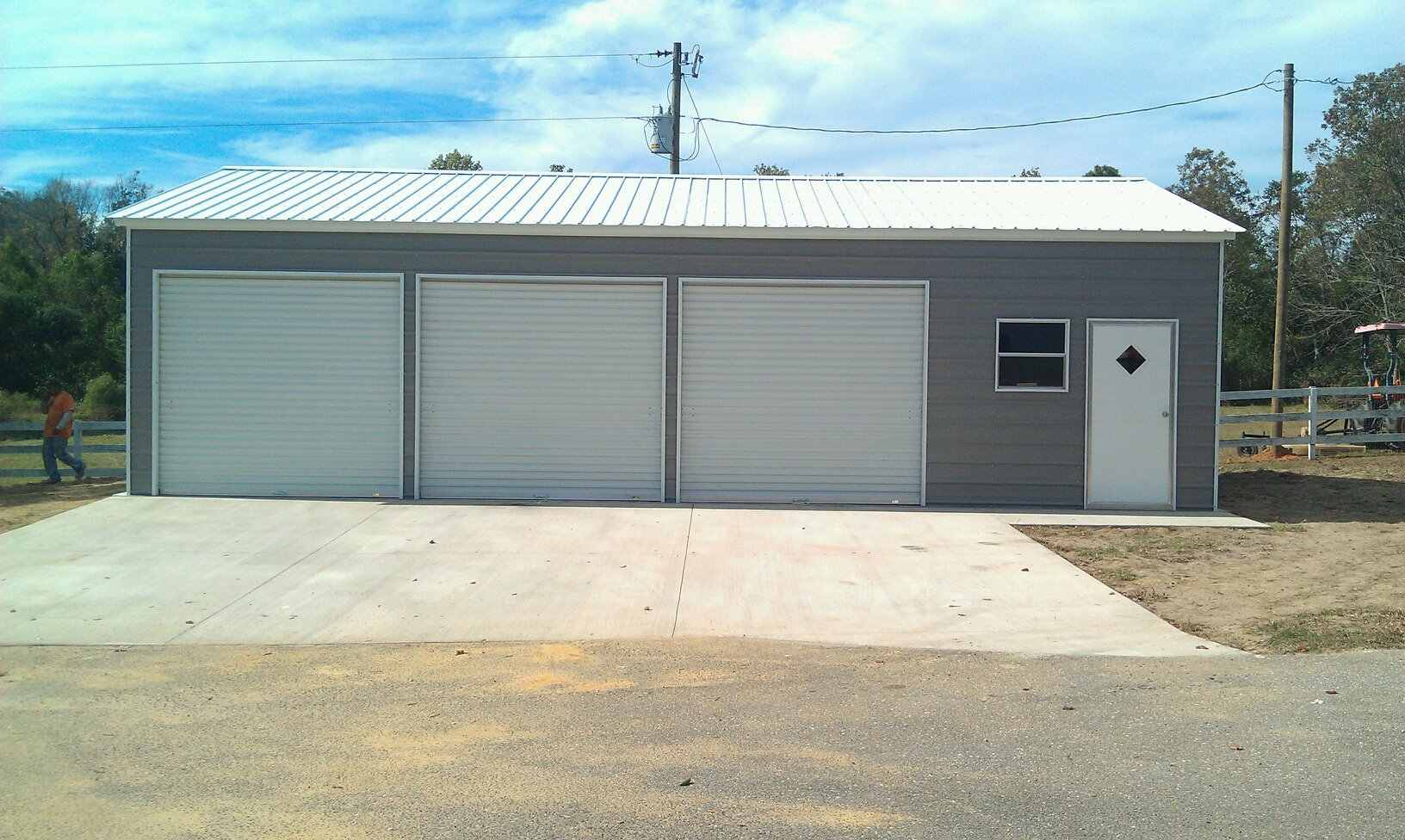 Tennessee tn metal garages barns sheds and buildings 3 car metal garage kits