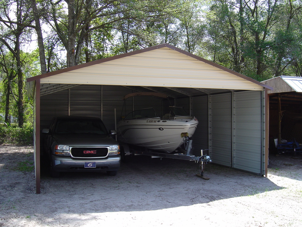 Carports wyoming wy metal garages steel buildings for Carport garages