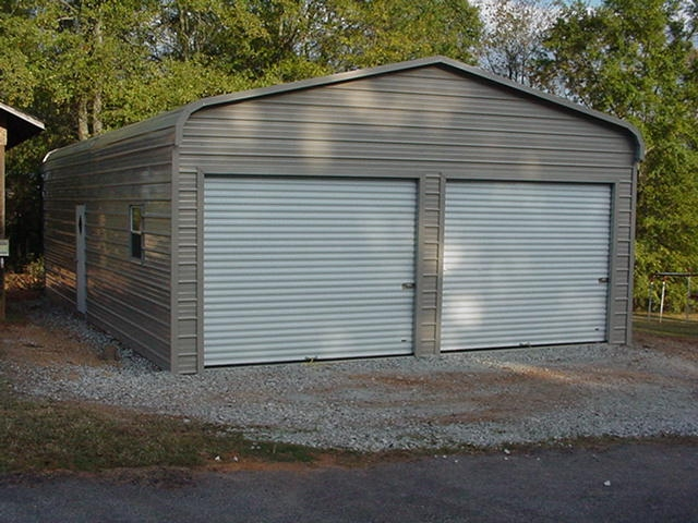 Double car garage double car garages for Metal garage pics