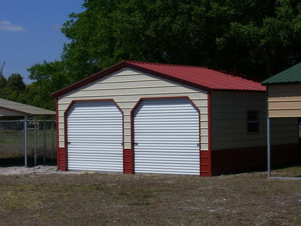 Metal garages alabama al prices for Double garages