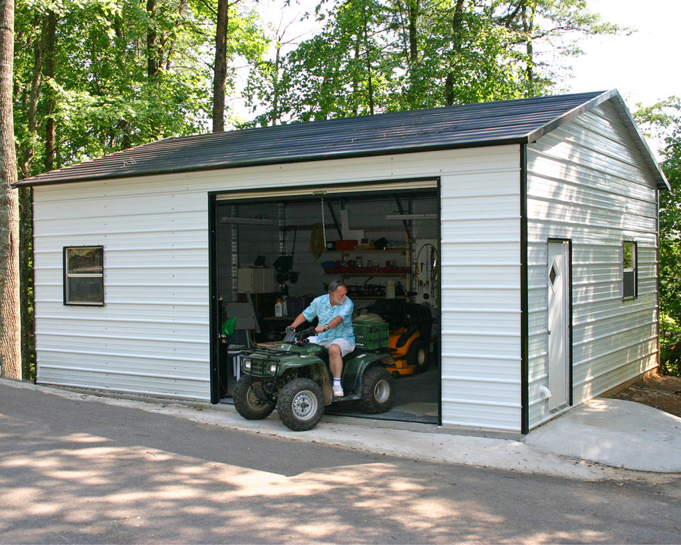 Carports wyoming wy metal garages steel buildings for Garage with shop