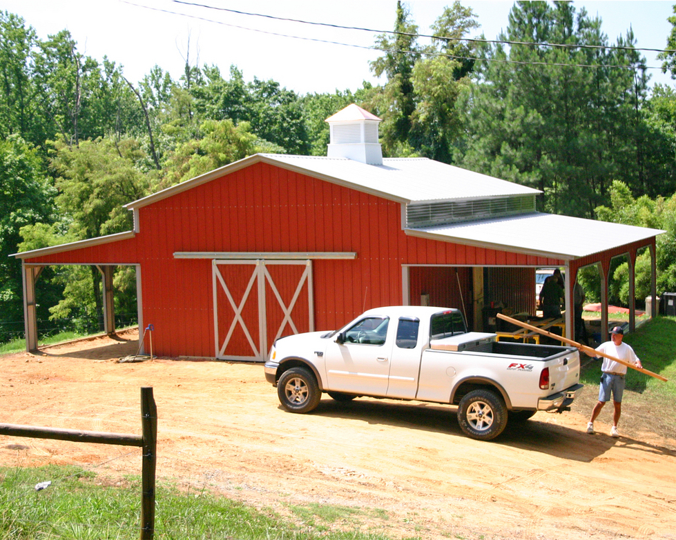 Metal barn prices north carolina nc steel barns for Metal barn pictures