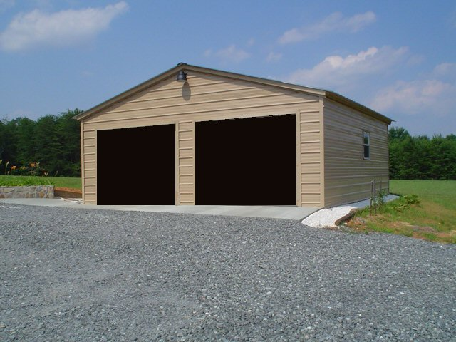 Metal garages steel buildings for Garage building cost