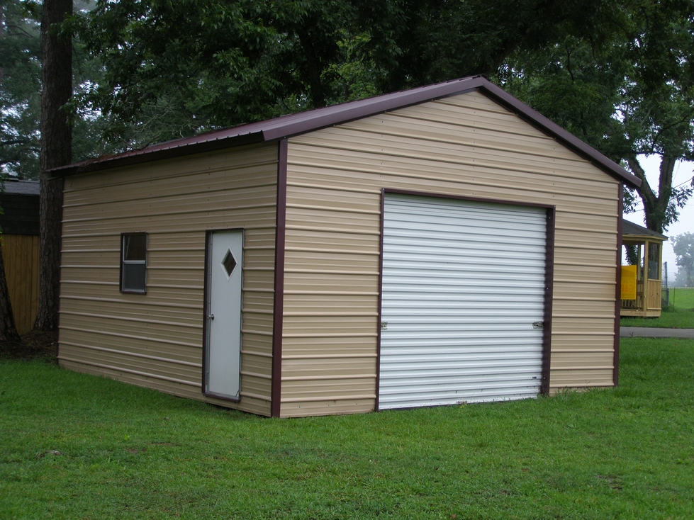 Garages metal steel carports car ports for Barns and garages
