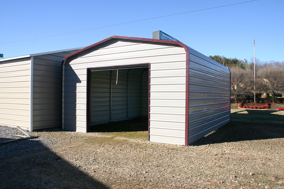 Metal buildings do it yourself steel garage kits do it for Diy garage cost