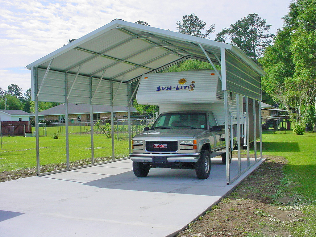 Metal carports kansas city mo missouri carports for Metal rv garage