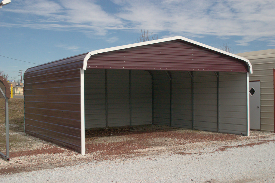 Carport metal carports and garages for Garage and carport