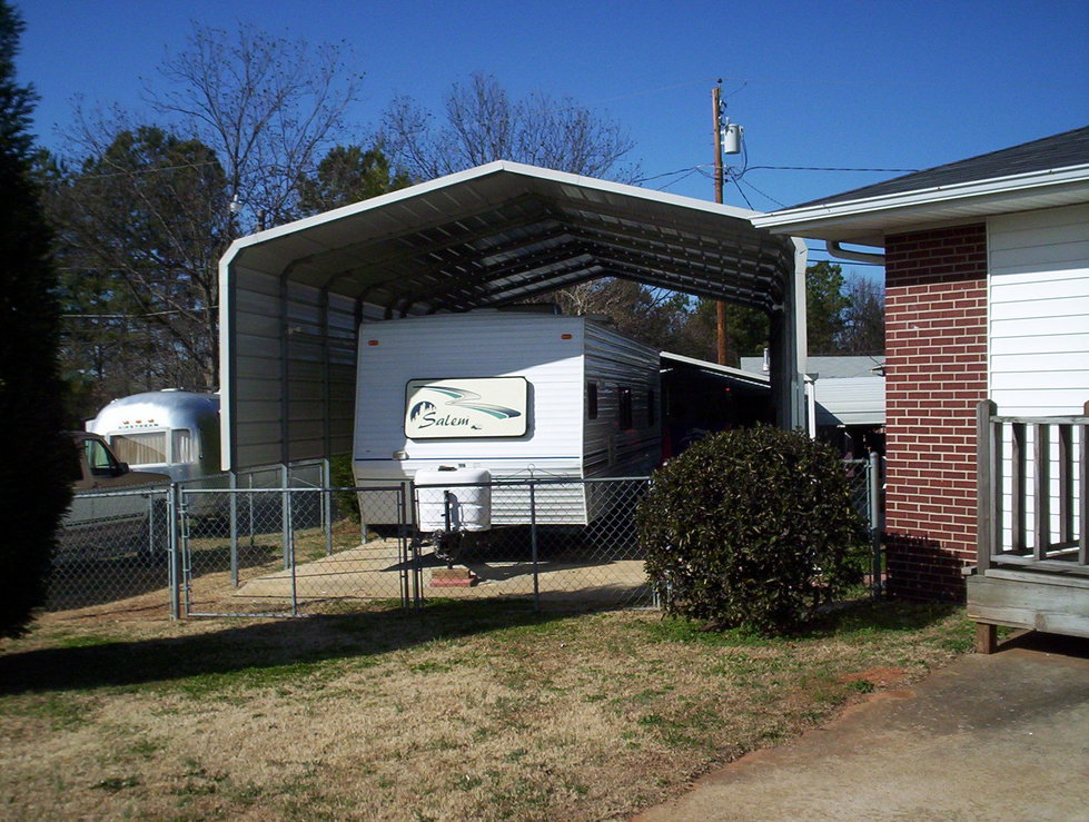 Metal Shelter For Rv Motorhomes : Motor home shelters motorhome carports carport