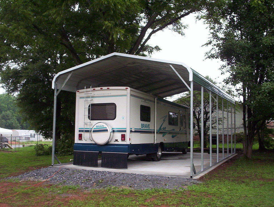 Rv Garages Carports : Carports wyoming wy metal garages steel buildings