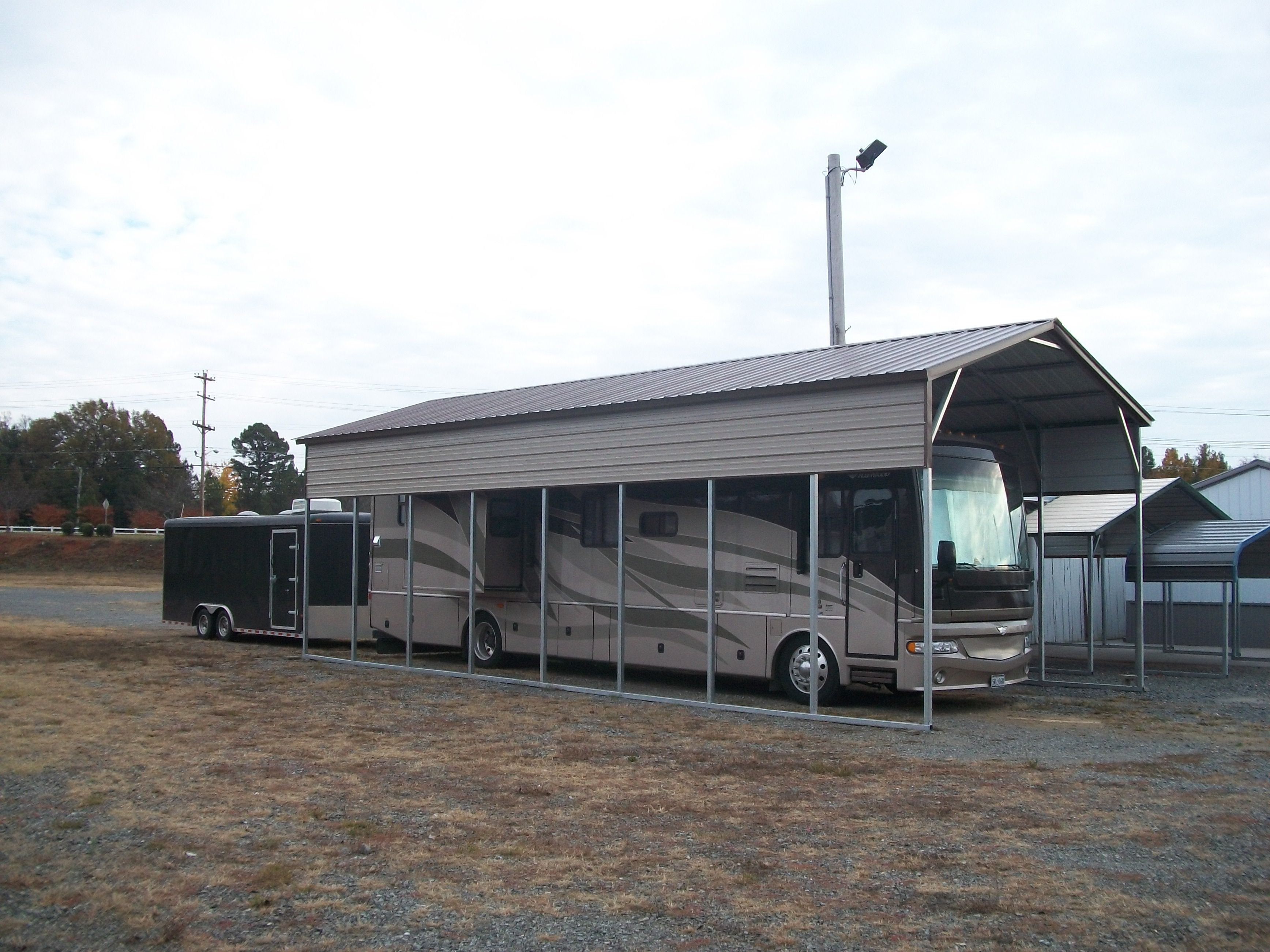 Metal carports north carolina steel carports nc for Carports for motorhomes