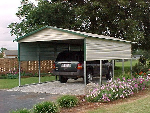 Single Metal Garage Building Kit : Single carports one car
