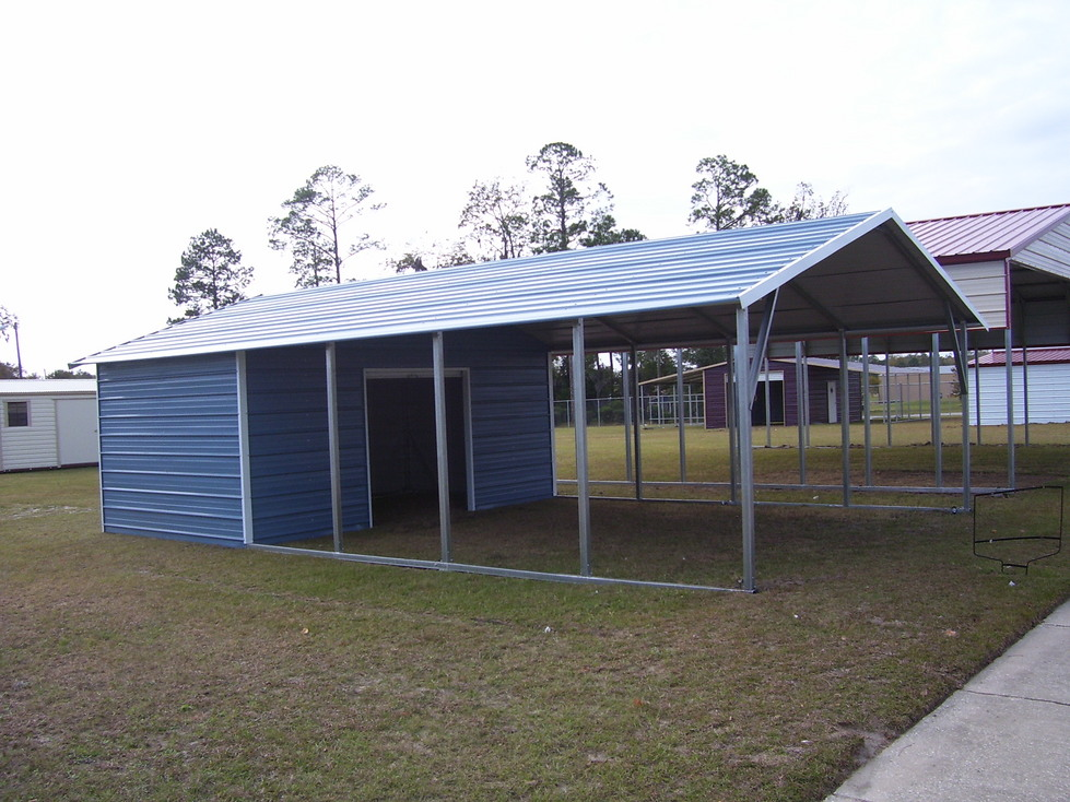 Utility carports utility carport carport with storage for Carport garages