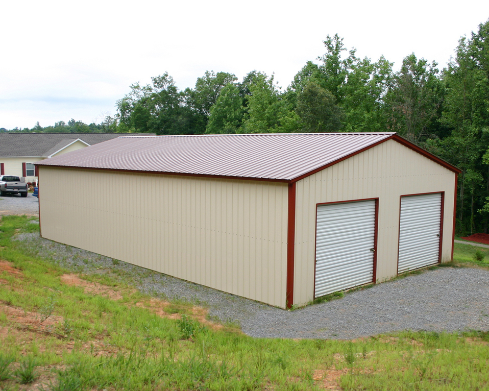 Southern garages vertical roof for Garage roofing options
