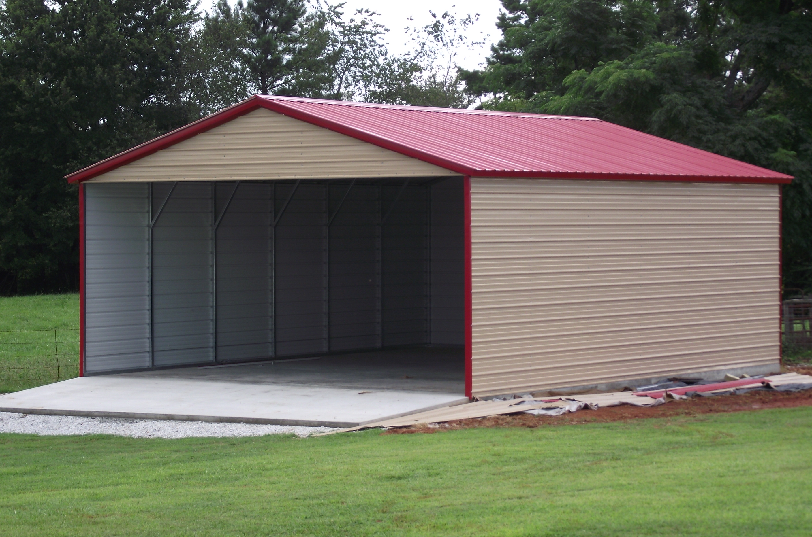 Metal carports north carolina steel carports nc for Carport garages
